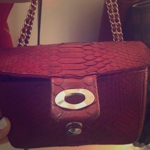 Handbags - Real python leather purse